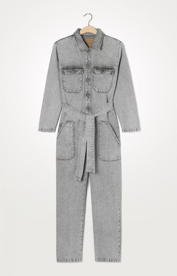 TIZANIE JUMPSUIT - GREY PEPPER AND SALT
