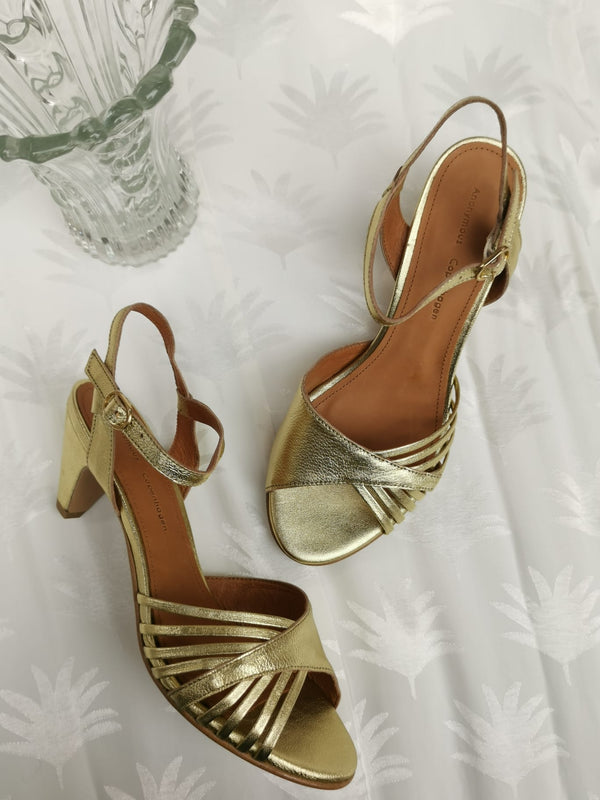 HERMINE METALLIC GOLD - LEATHER GOLD