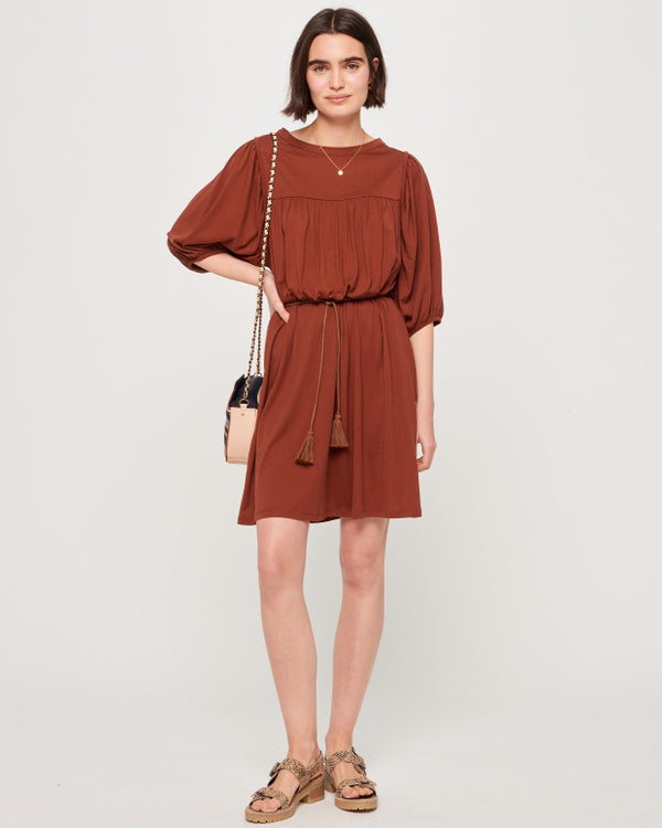 CHARLOTTE DRESS  - TERRE BRULEE