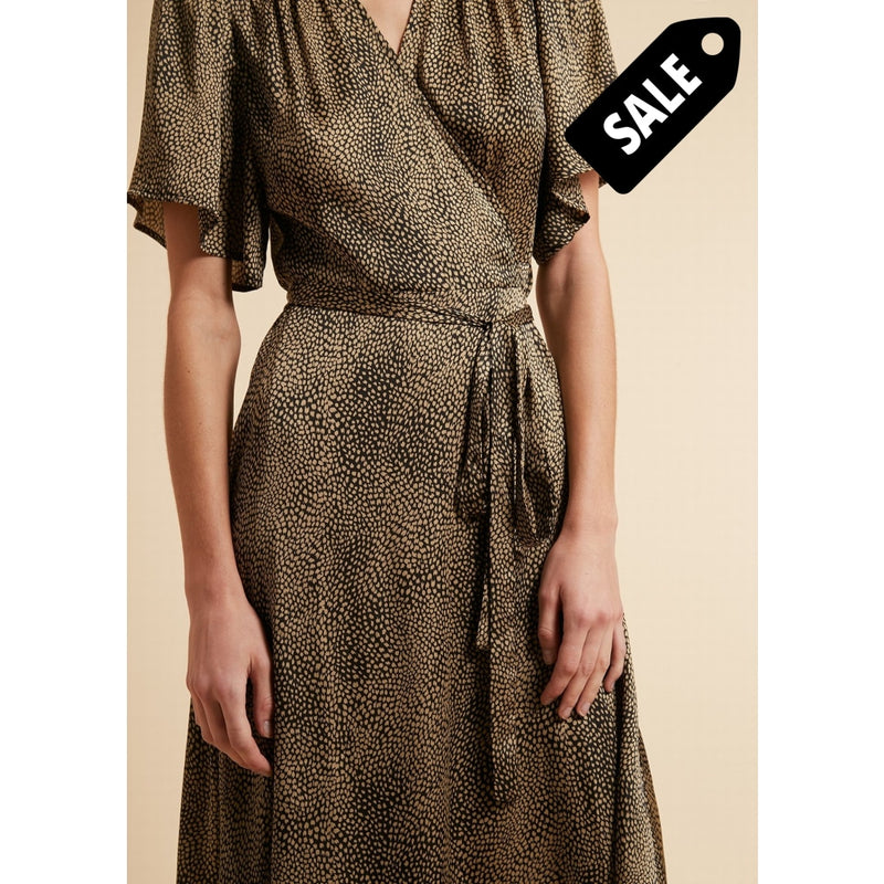 Absatou Dress - Black/beige