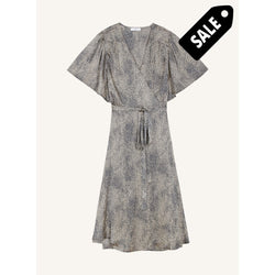 Absatou Dress - Black/beige Xs