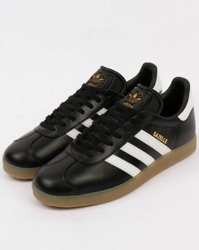 GAZELLE LEATHER - BLACK WHITE GOLD