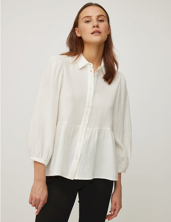 RENETTA ADORA SHIRT - WHITE