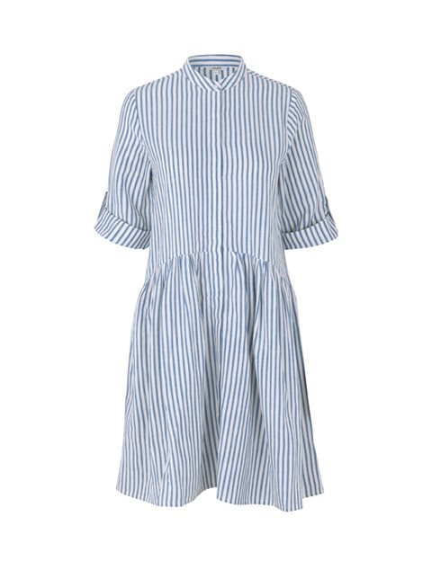 ALBANA DRESS - BLUE SUGAR STRIPE
