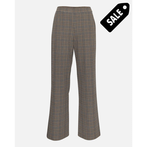 Alexandra Pants - Gray Check Xs Pants