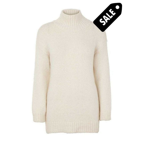 Aliki T-Neck Knit - Creme Sweater
