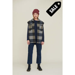 Amina Vest - Grey Check Knit