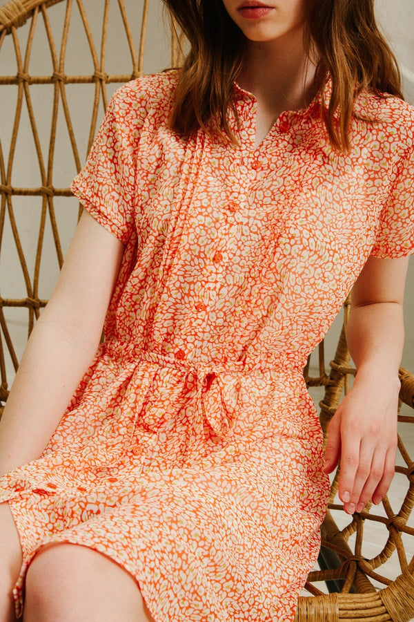AUDE DRESS - CORAIL