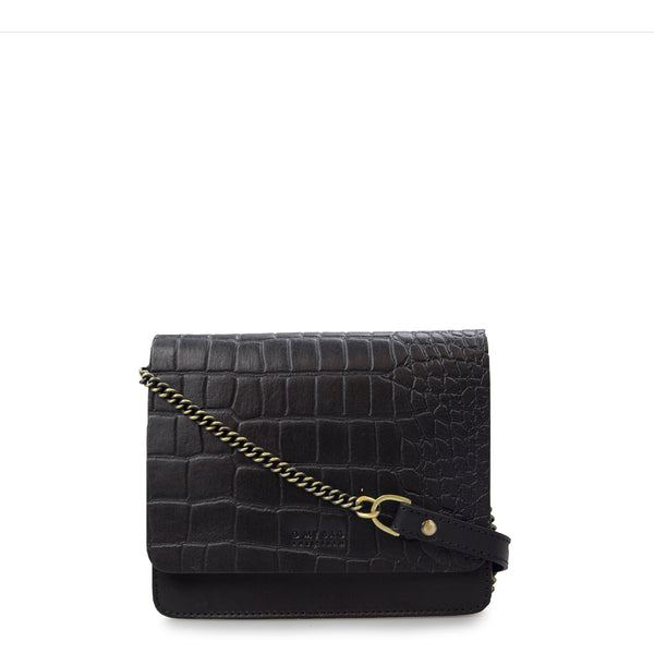 AUDREY MINI CHAIN - BLACK CROCO