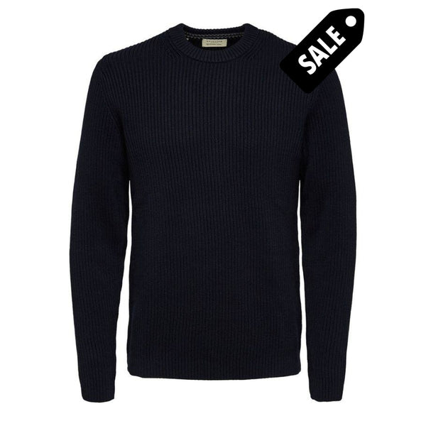 Bjorn Crew Neck Jumper - Sky Captain S Knit