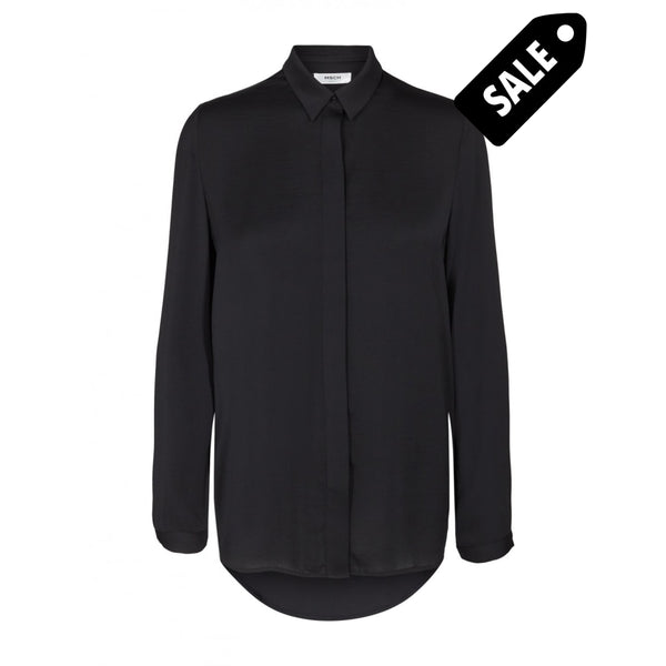 Blair Polysilk Shirt - Black Xs