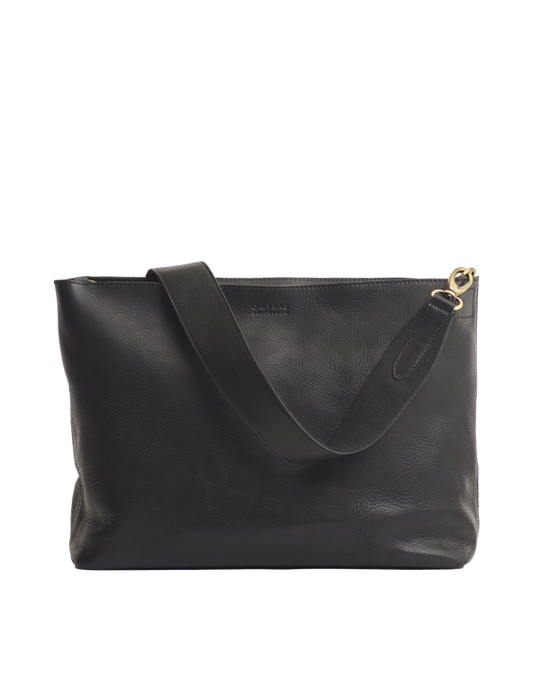 OLIVIA BAG - BLACK STROMBOLI LEATHER