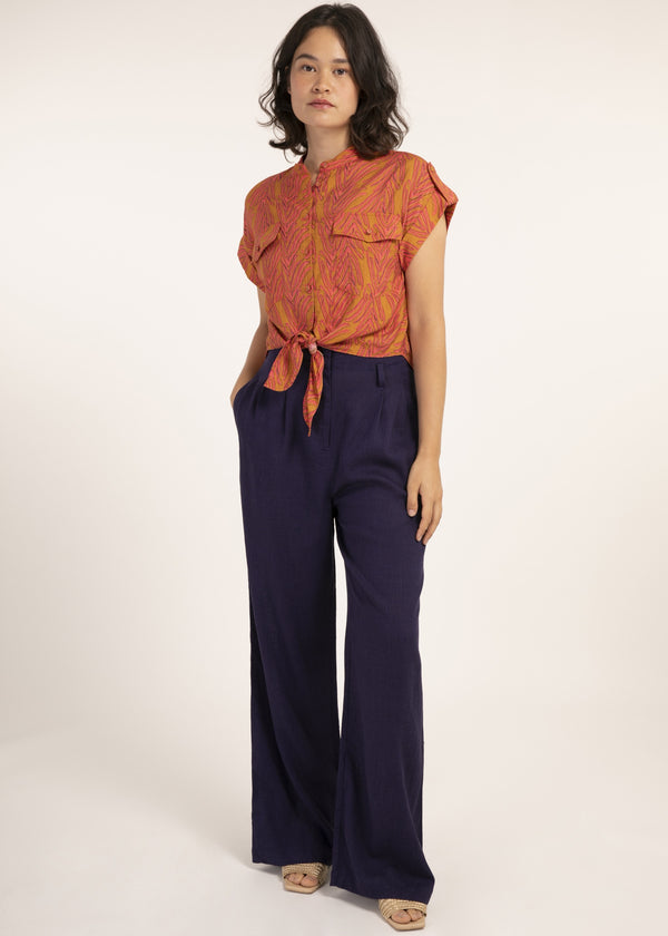 CELENE TOP - FAUNE ORANGE