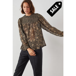 Chagrin Tv29 Mix Blouse - Carbon