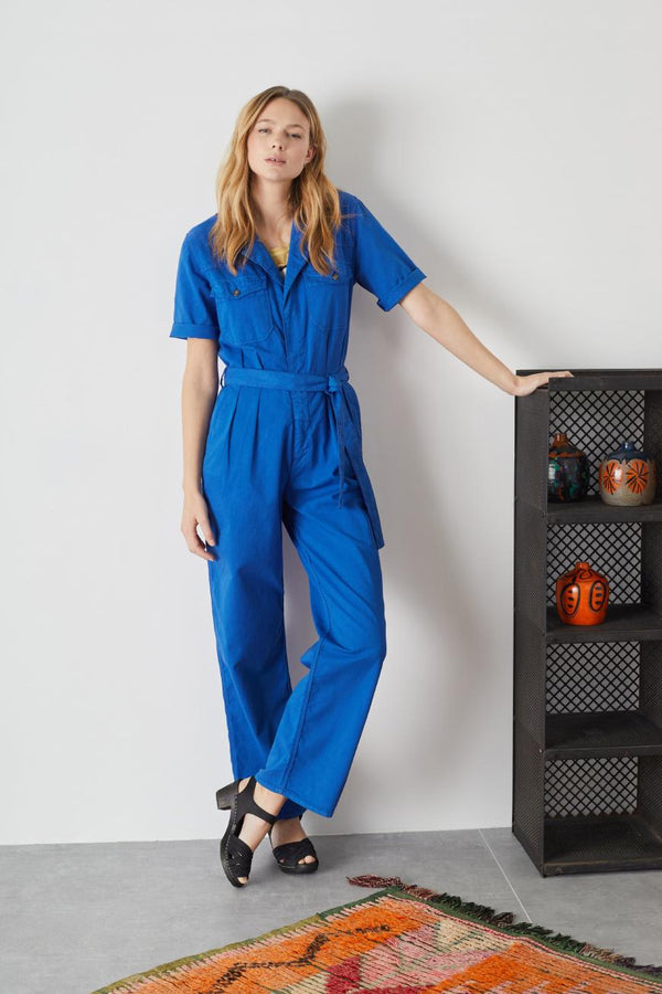 OVER PLAIN JUMPSUIT - BLUE
