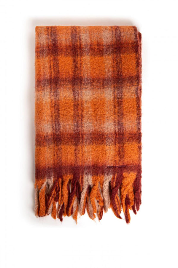 ELLIOTT AE03 CHECK SCARF - SQUIRREL