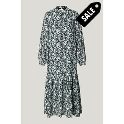 Effie Maxi Dress - Blue Flower Aop Xs