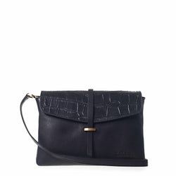 ELLA MIDI - BLACK CROCO