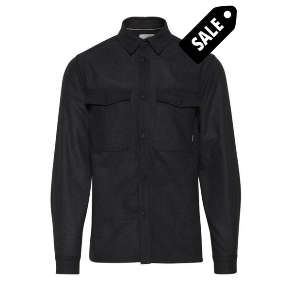 Fang Ls Overshirt - Dark Grey S M