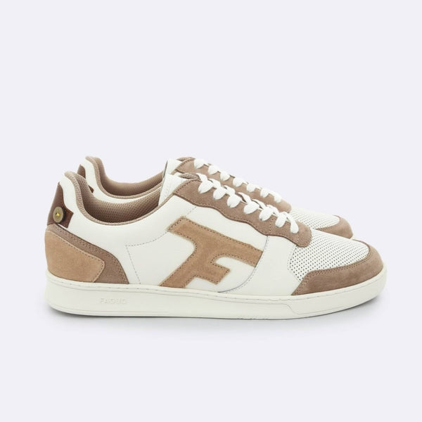 Hazel Sneakers - Cream & Sand In Leather Recycled Polyester 42 Shoes
