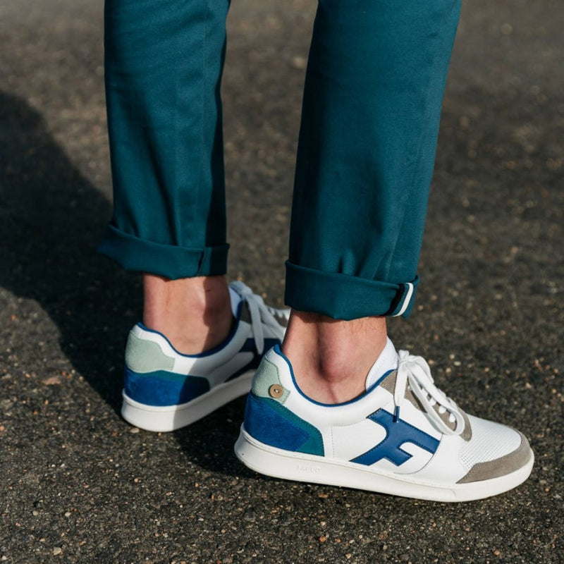 Hazel Sneakers - White & Blue Shoes