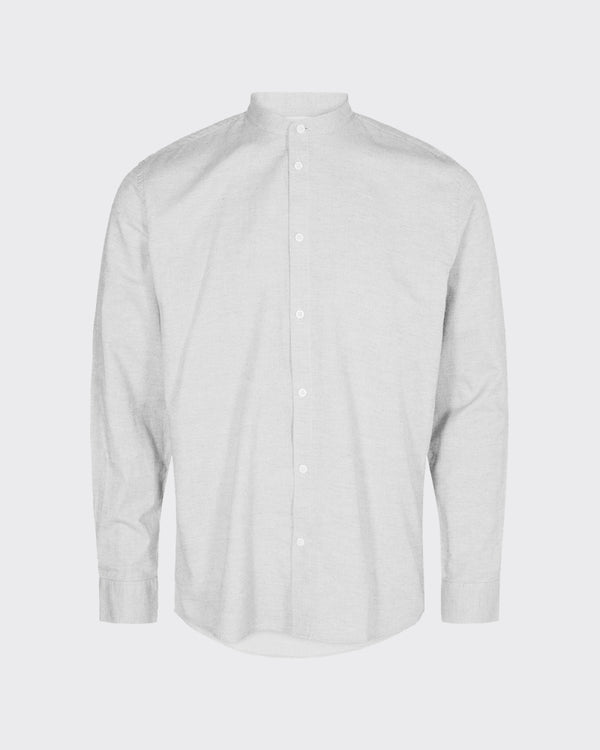 ANHOLT SHIRT - WHITE/METAL GREY