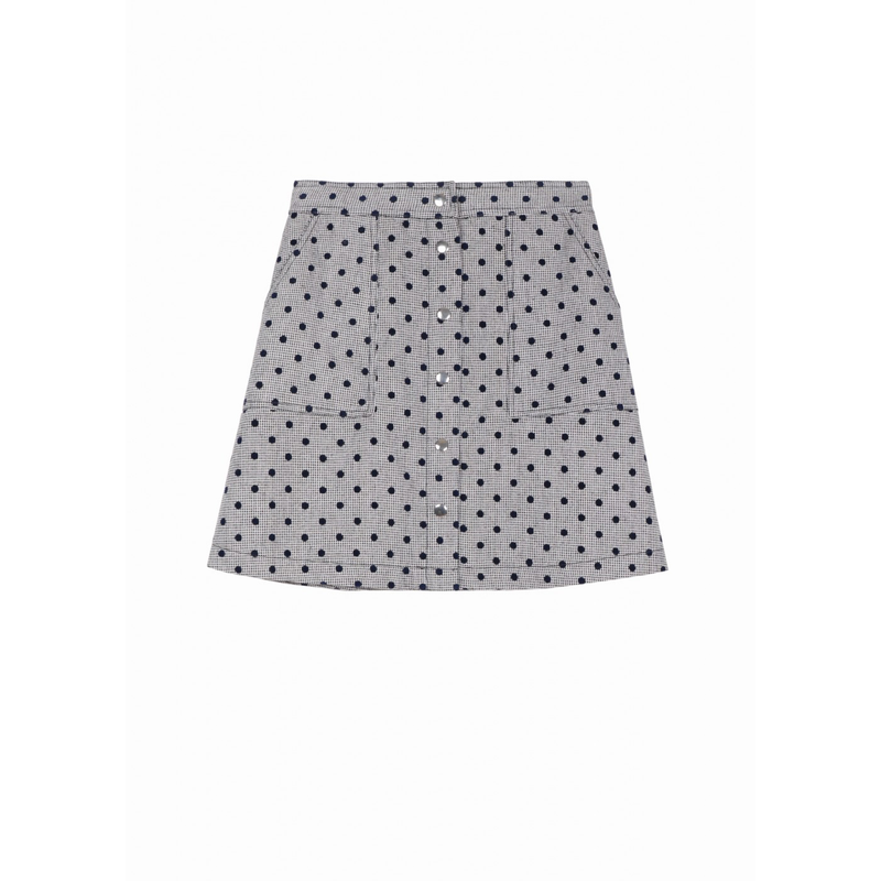ELIANE SKIRT - GREY - FRNCH