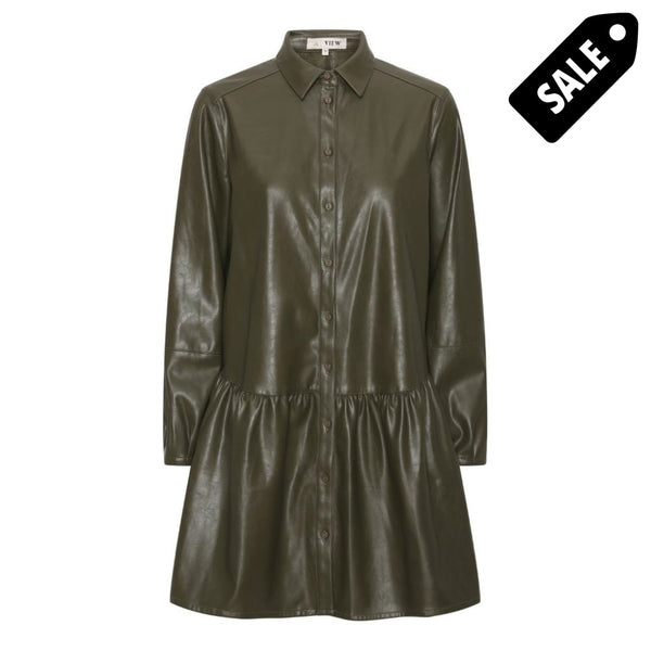 Iris Pu Shirt Dress - Army 34