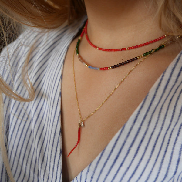 LOU RED NECKLACE - RED