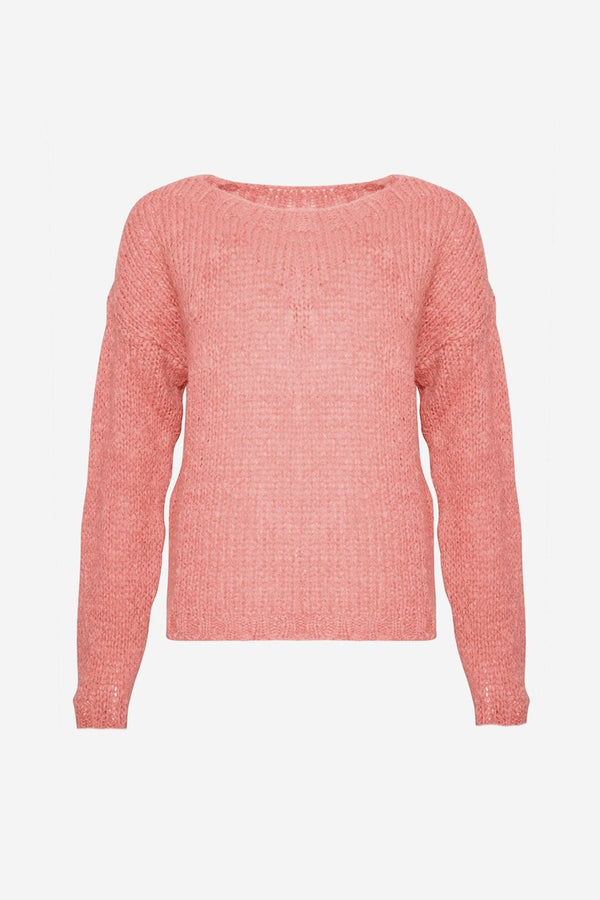 KALA KNIT SWEATER - OLD ROSE