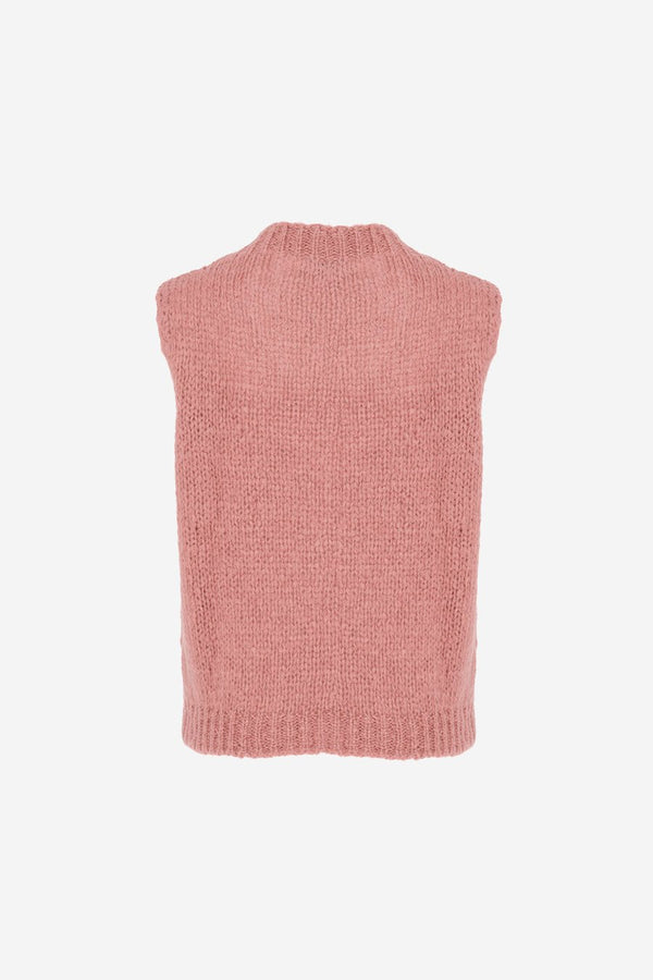 KALA VEST WOOL - OLD ROSE