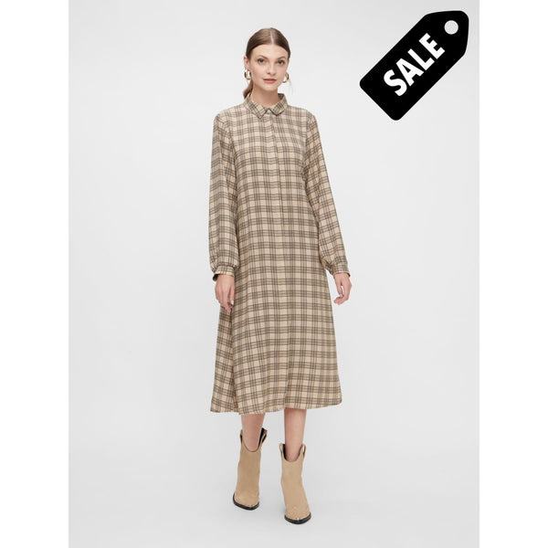 Katie Ls Shirt Dress - Eggnog/beige