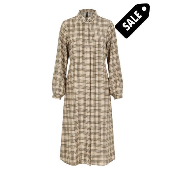 Katie Ls Shirt Dress - Eggnog/beige Xs