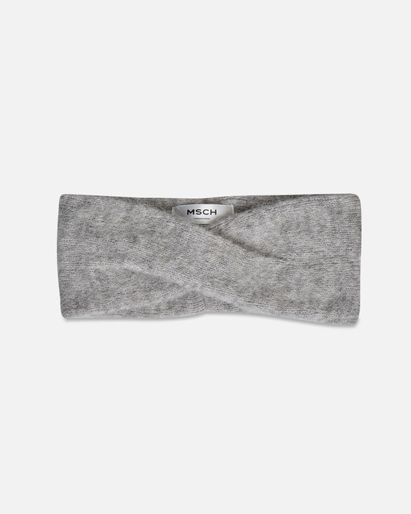 KIKKA ALPACA HEADBAND - LIGHT GREY MELANGE