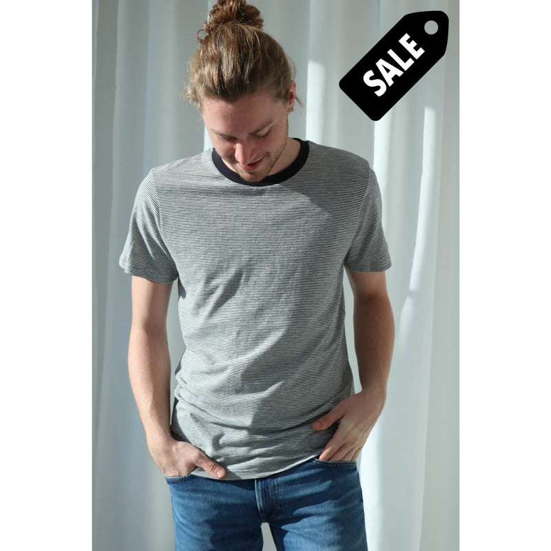 Kyle T-Shirt - White/black Small Striped T-Shirt