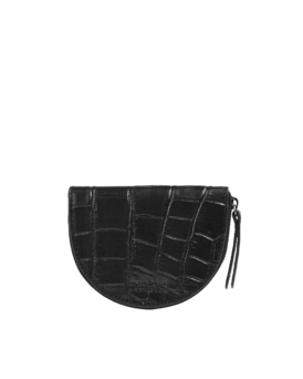 LAURA COIN PURSE - BLACK CROCO