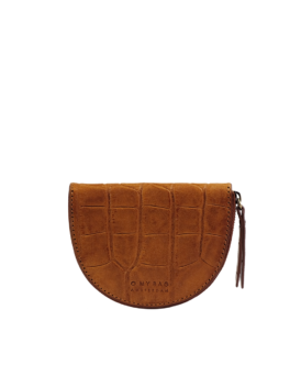 LAURA COIN PURSE - COGNAC CROCO