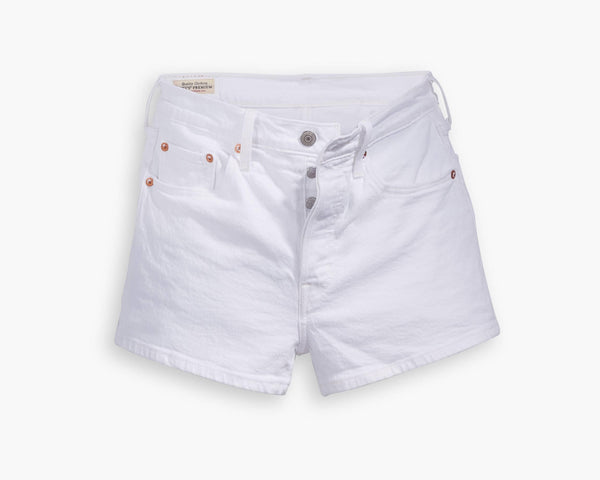 501 HIGH WAIST SHORT - WHITE