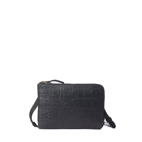 LOLA BAG   - BLACK CROCO