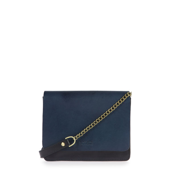 AUDREY MINI CHAIN - BLACK/NAVY