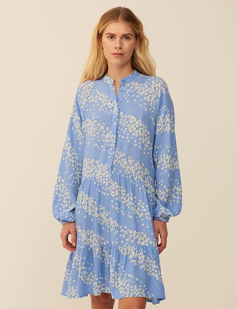MARRANIE DRESS - BLUE PRINT