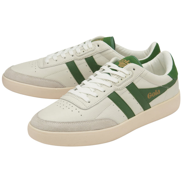 INCA LEATHER - OFF WHITE/GREEN/OFF WHITE