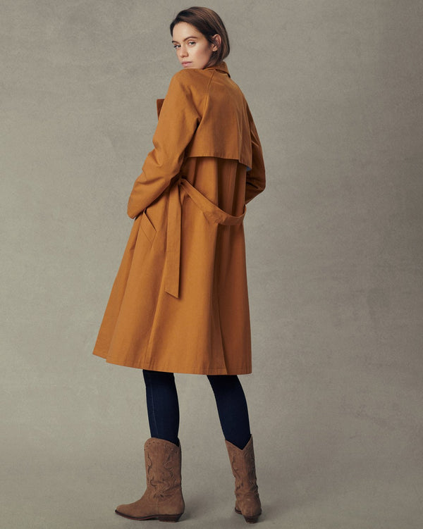 ANGELA TRENCH COAT - TOBACCO BROWN
