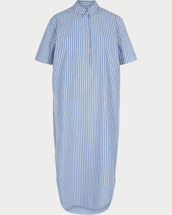 ARA SHIRT DRESS - BLUE STRIPES