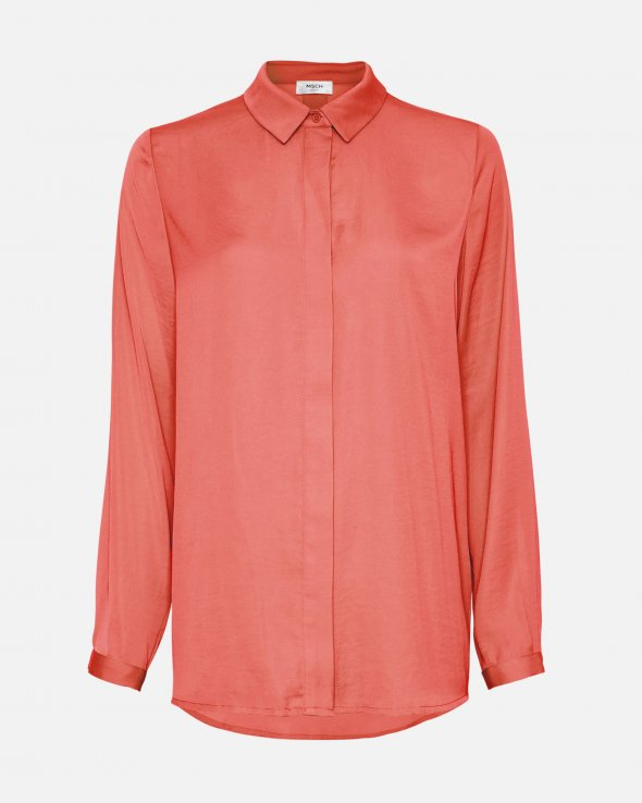 BLAIR SEASONAL POLYSILK SHIRT - ROSE OF SHARON