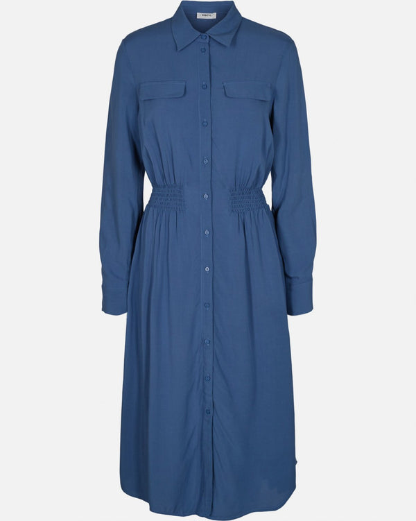 CADDY BEACH LS SHIRT DRESS - BLUE HORIZON