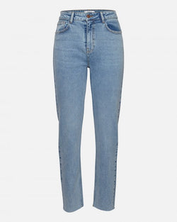 CRYSTAL MOM JEANS - LT DENIM BLUE
