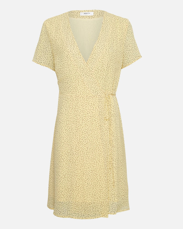 LINOA RIKKELIE WRAP DRESS - BANANA DOT