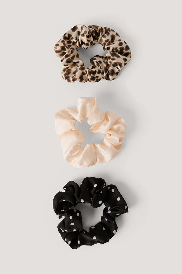 3-PACK MIXED PATTERN SCRUNCHIES - MIXED
