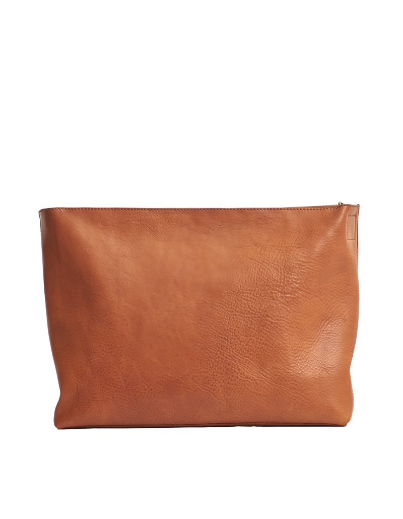 OLIVIA BAG - COGNAC STROMBOLI LEATHER